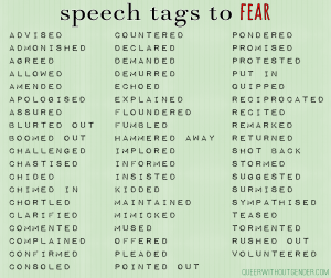 Some of the many speech tags we should reconsider using.