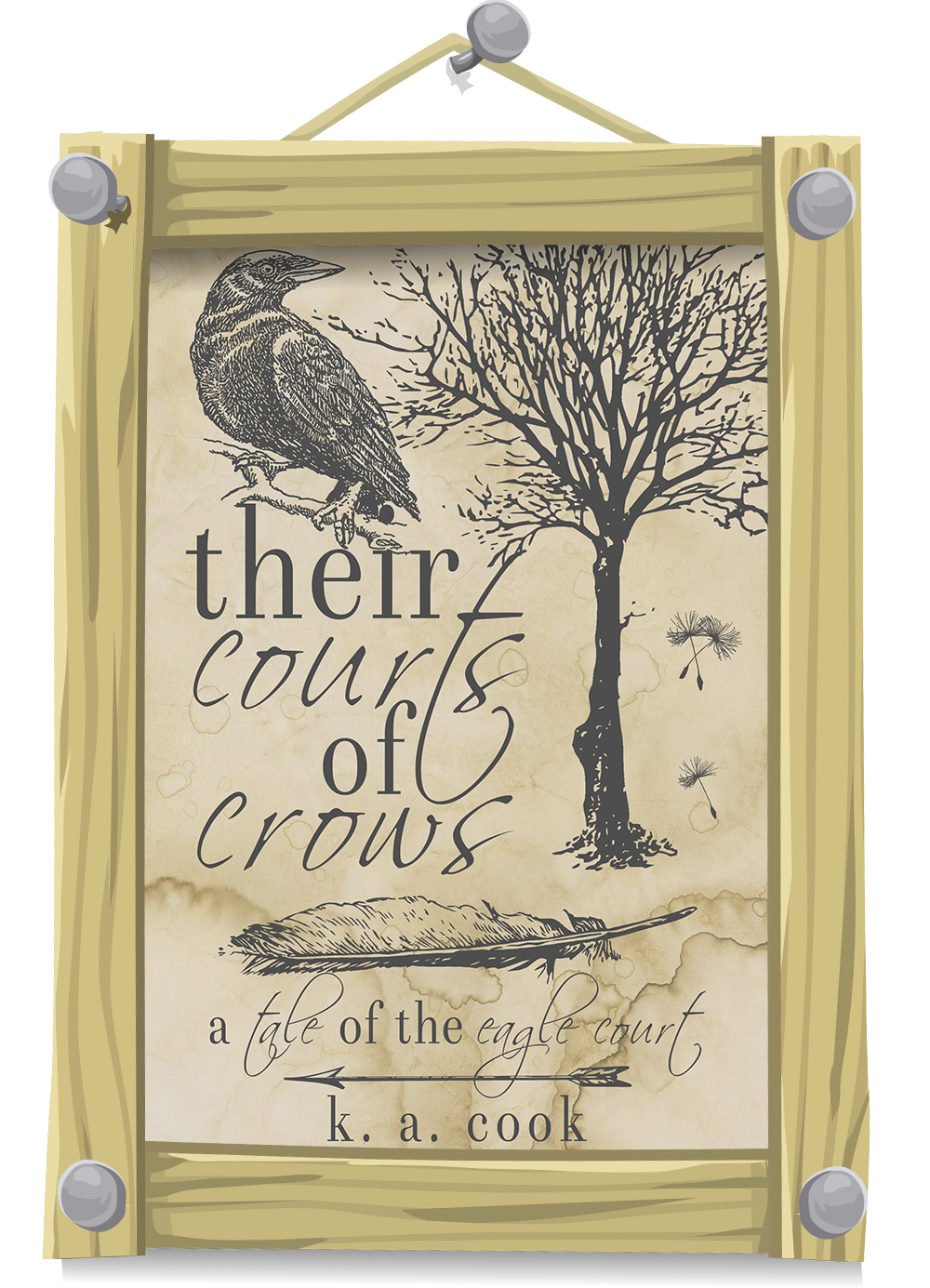 Cover image: Their Courts of Crows by K. A. Cook.